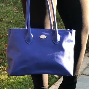 Royal blue Furla tote bag